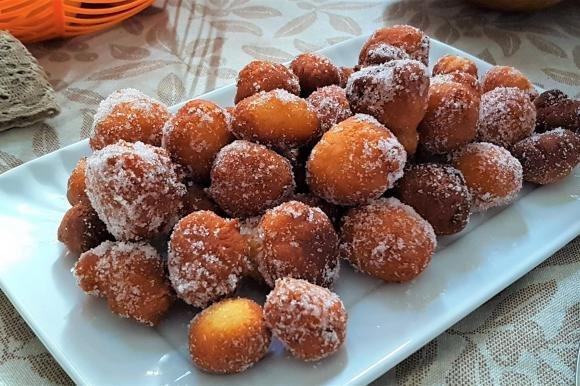 Frittelle dolci al mascarpone, arancia e zucca
