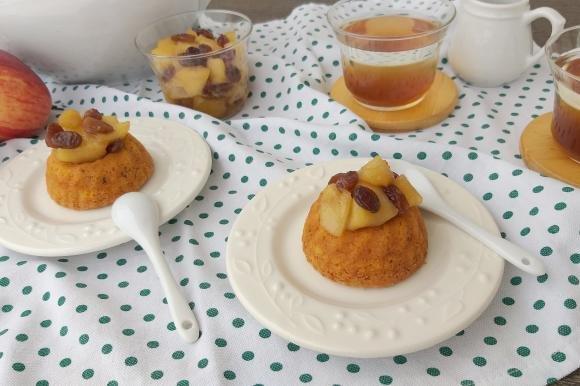 Tortine di zucca e noci con mele caramellate
