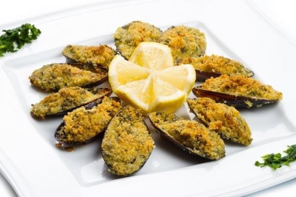 Cozze gratinate alla siciliana