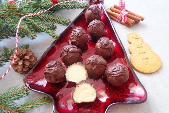 Palline al marzapane e cioccolato