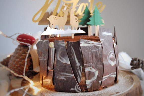 Torta al mascarpone, cioccolato e gelée all'arancia