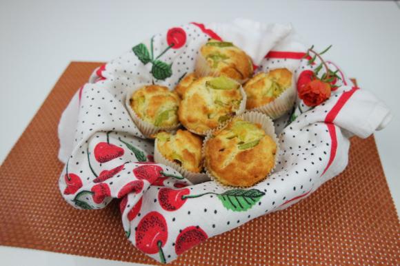 Muffin salati con scalogno e zucchine