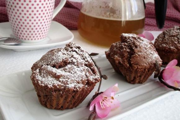 Muffin integrali con cocco e orzo
