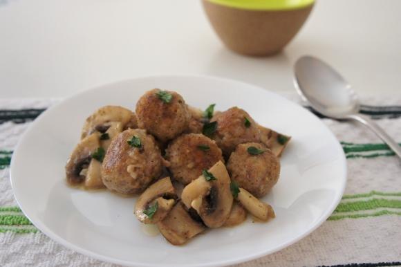 Polpette di carne con funghi trifolati