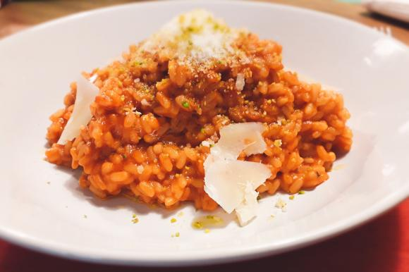 Riso saltato al pomodoro con parmigiano e Asiago