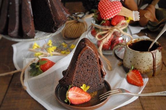 Bundt cake caffè e cioccolato con glassa fondente