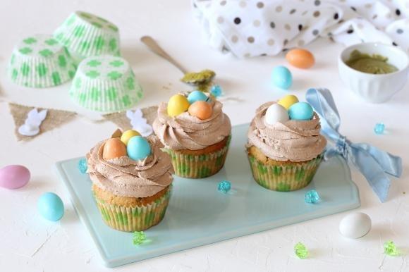 Cupcake al pistacchio di Pasqua