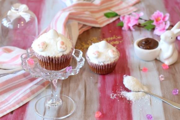 Bunny cupcake alla nutella e nocciole