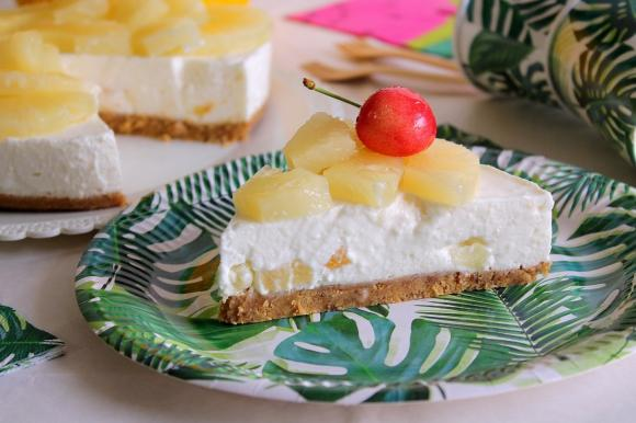 Cheesecake all'ananas e yogurt greco