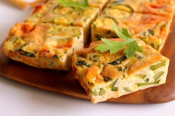 Frittata al forno con zucchine e scamorza affumicata