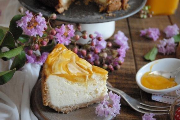 New York cheesecake al mango