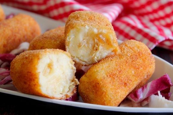 Crocchette di patate e sgombro sott'olio