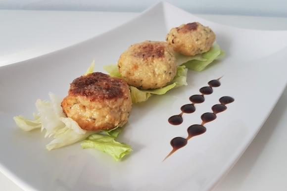 Polpette al forno con pollo, zucchine e albumi