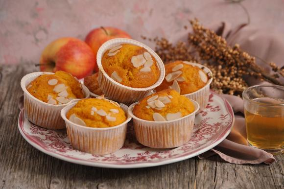 Muffin con carote cotte