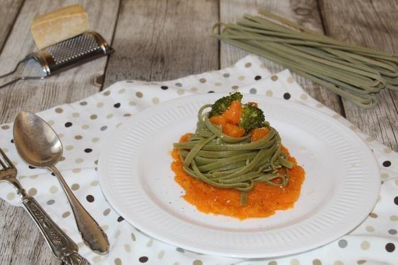 Tagliolini con zucca e broccoli