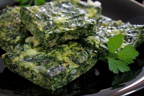 Frittata al forno con spinaci e mozzarella