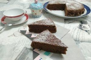 Torta vegana con orzo e cacao