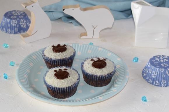 Muffin zampa d'orso al cioccolato