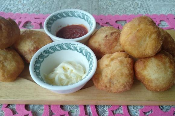 Bombette fritte con scamorza e melanzane