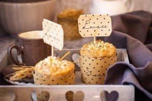 Muffin integrali alle nocciole e sciroppo d'acero