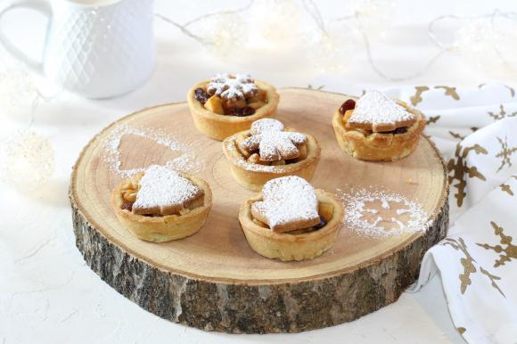 Mini apple pie di Natale