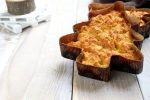 Alberello salato con patate, pancetta e formaggio