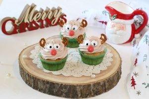 Cupcake rudolph con cioccolato fondente