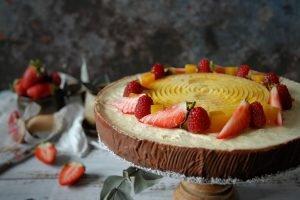 Crostata esotica mango, cocco e lime