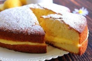 Torta al limone con crema pasticcera al limone