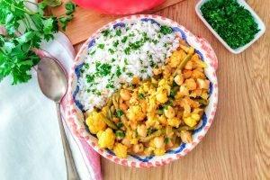 Curry di ceci e cavolfiore