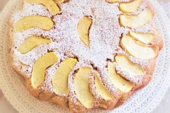 Torta di mele e mascarpone senza burro