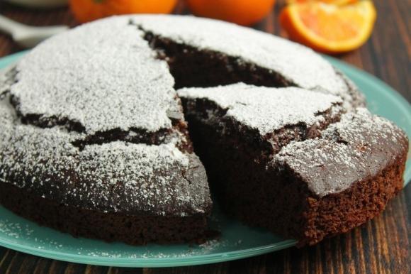 Torta al cacao e arancia senza uova