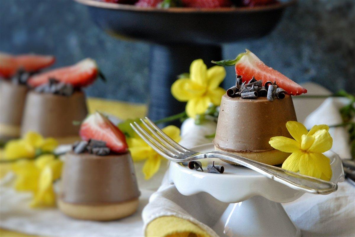 Mini cheesecake al cioccolato senza cottura