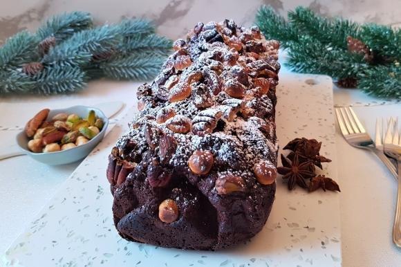 Plumcake al cacao e frutta secca senza burro