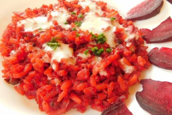 Risotto alle barbabietole con fonduta di gorgonzola