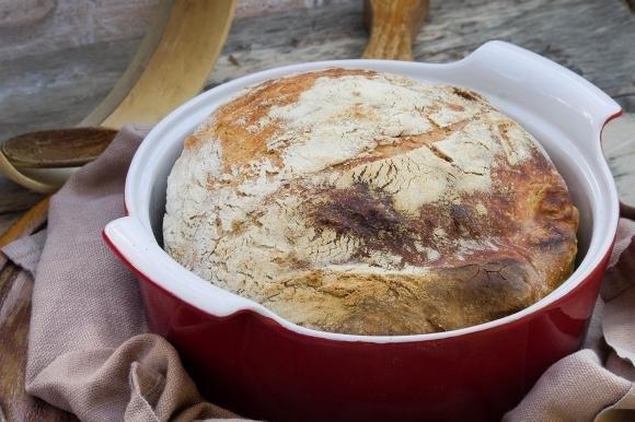 No knead bread, cottura forno padella