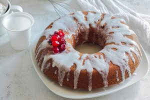 Ciambella yogurt e mirtilli