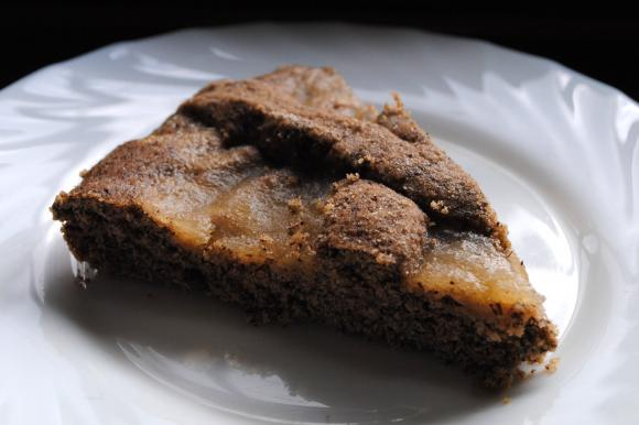 Crostata con marmellata di pere e grano saraceno senza glutine e lattosio