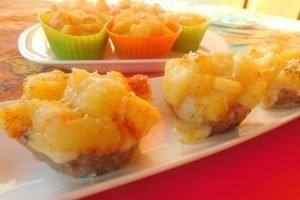 Cestini di carne macinata, provola e patate aromatizzate con paprika