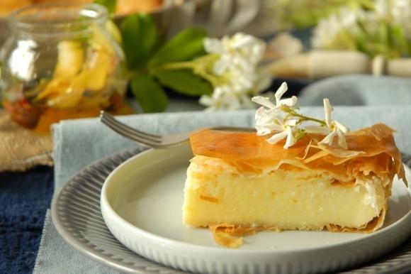 Galaktoboureko: torta greca di fillo e semolino