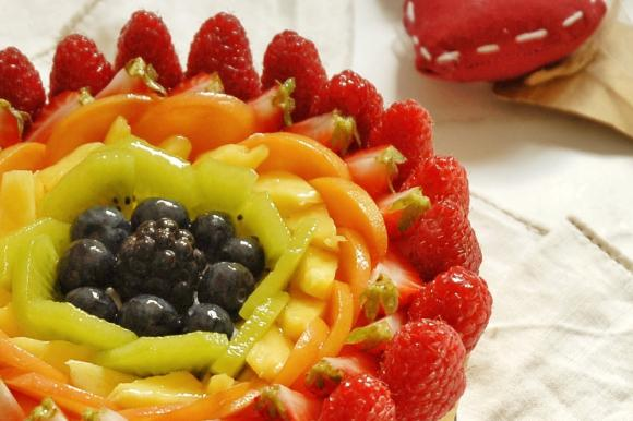 Crostata cheesecake arcobaleno