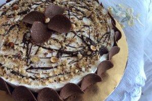 Torta gelato panna e nutella
