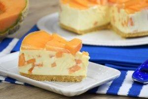 Cheesecake al melone cantalupo