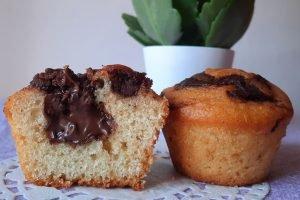 Muffin con cuore di nutella e yogurt al cocco