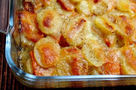 Tortino di patate, zucca e mozzarella