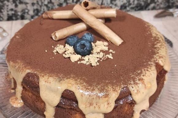 Cheesecake di Natale con torrone morbido al forno