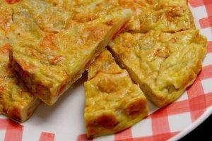 Frittata al forno con zucca, patate e cipolle