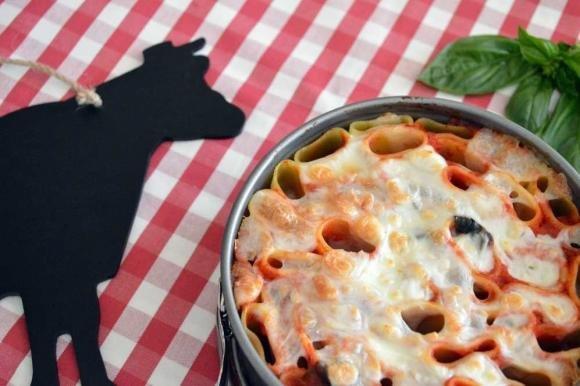 Maccheroni al forno con mozzarella