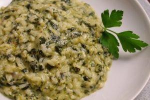 Risotto con spinaci e Philadelphia