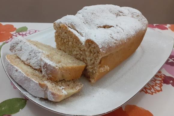 Treccia di pan brioche con noci e miele